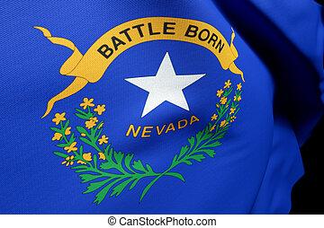 flag Nevada US State, close up usa
