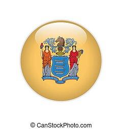 Flag New Jersey button