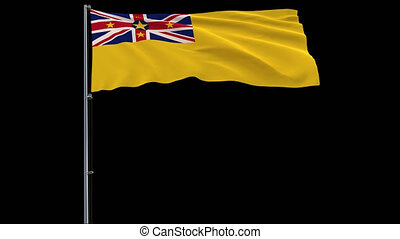 Flag Niue on transparent background, 4k prores 4444 footage...