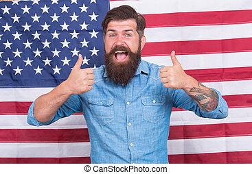 flag., norteamericano, best., público, america., day., ...
