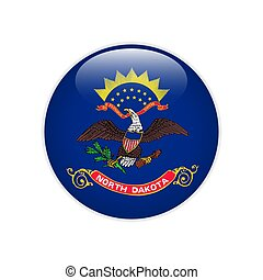 Flag North Dakota button