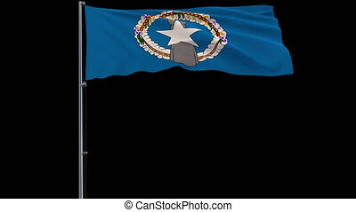 Flag Northern Mariana Islands on transparent background, 4k...