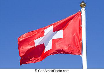Flag of a Switzerland