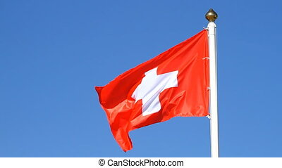Flag of a Switzerland