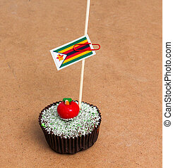 Flag of a zimbabwe