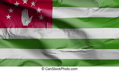 Flag of Abkhazia Realistic 3D