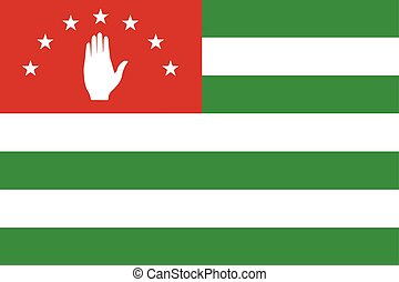 Flag of Abkhazia. Vector Format