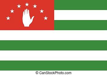 Flag of Abkhazia. Vector Format