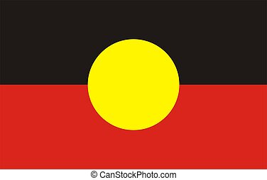 Flag Of aboriginal - 2D illustration of the flag of...