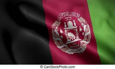 Flag of Afghanistan 3D Loop