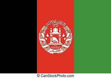 Flag of Afghanistan in correct size colors, vector