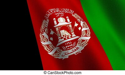 Flag of Afghanistan, seamless loop - Flag of Afghanistan...