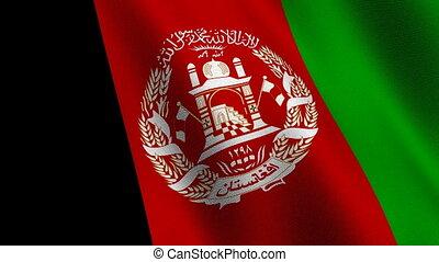 Flag of Afghanistan, seamless loop - Flag of Afghanistan...