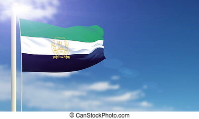Flag of Afghanistan - Flag of the Afghanistan waving in the...