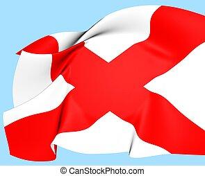 Flag of Alabama, USA.
