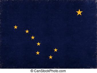 Flag of Alaska Grunge