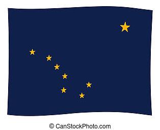Flag of Alaska Wave