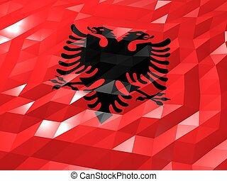Flag of Albania 3D Wallpaper Illustration