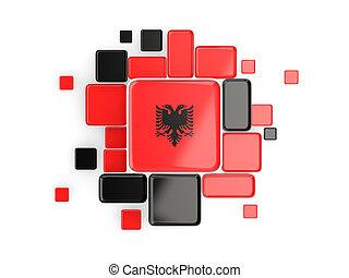 Flag of albania, mosaic background