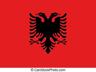 Flag of Albania official colors and proportions