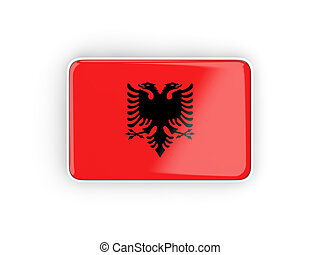 Flag of albania, rectangular icon