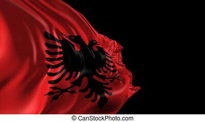 Flag of Albania - Beautiful 3d animation of the Albania flag...