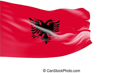 Flag of Albania - Flag of the Albania waving in the wind....