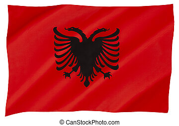 Flag of Albania - The national flag of Albania - adopted 28 ...