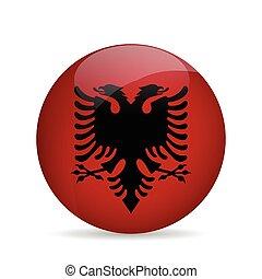 Flag of Albania. Vector illustration.