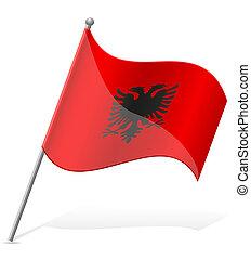 flag of Albania vector illustration