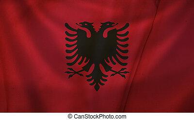 Flag of Albania.