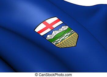 Flag of Alberta, Canada.