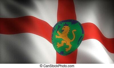 Flag of Alderney (seamless)