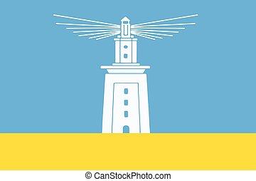 Flag of Alexandria, Egypt. Vector Format