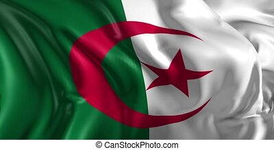 Flag of Algeria - Beautiful 3d animation of the Algeria flag...