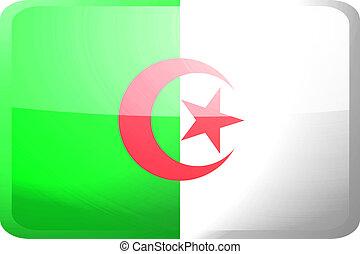 Flag of Algeria button