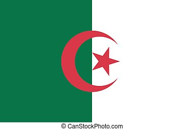 Flag of Algeria.