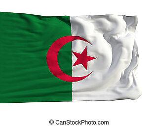 Flag of Algeria, fluttering in the wind
