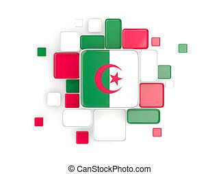 Flag of algeria, mosaic background