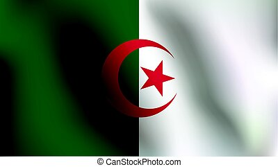 Flag of Algeria - Vector Illustration