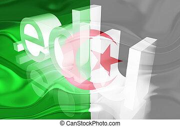 Flag of Algeria wavy education - Flag of Algeria, national...