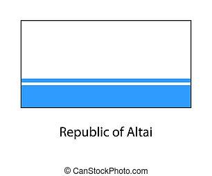 Flag of Altai Republic, Russia. Russian federation state. Altai Republic, Gorno-Altaisk.