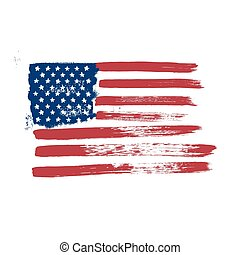 Flag of America on a white background.