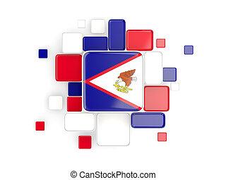 Flag of american samoa, mosaic background
