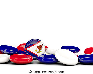 Flag of american samoa, round buttons