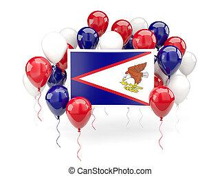 Flag of american samoa with balloons