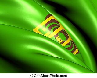 Flag of Amman, Jordan. Close Up.
