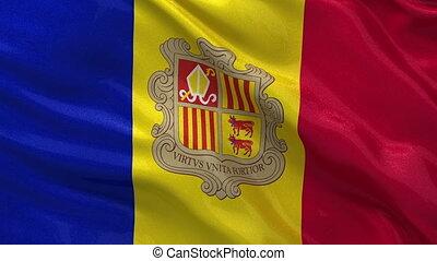 Flag of Andoorra seamless loop
