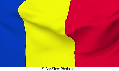 Flag of Andorra - Flag of the Andorra waving in the wind....