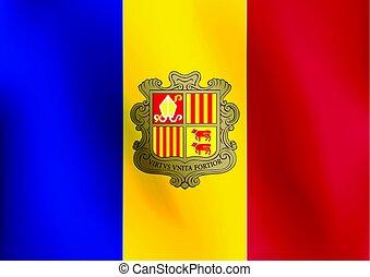 Flag of Andorra - Vector Illustration
